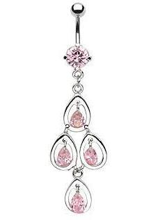 Navel rings dumbuzzard tear drop cz chandelier navel ring mozeypictures Gallery